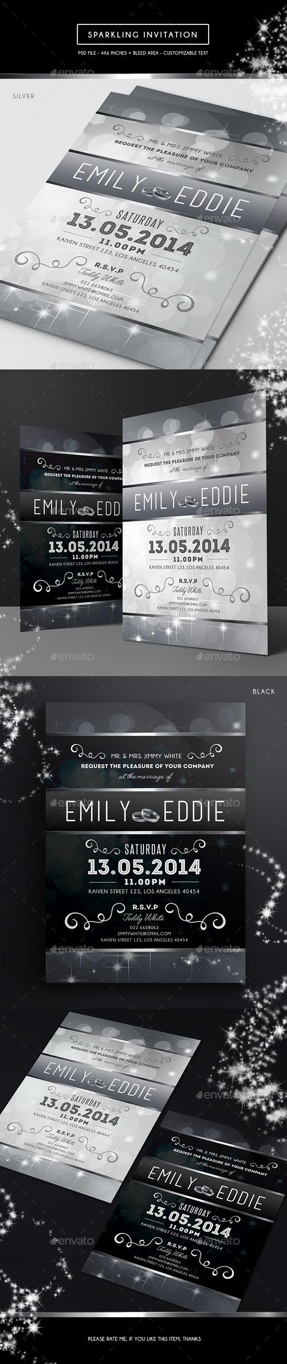 Sparkling Invitation - Weddings Cards & Invites
