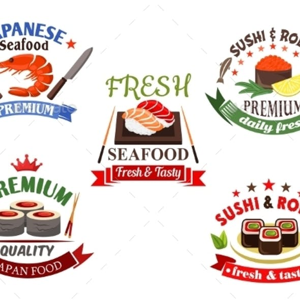 Sushi And Seafood Menu Elements