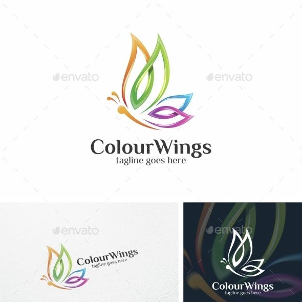 Colour Wings / Butterfly - Logo Template