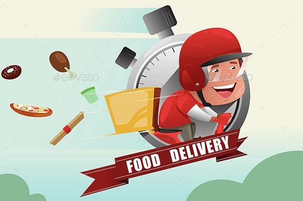 Food Delivery Service - Conceptual Vectors