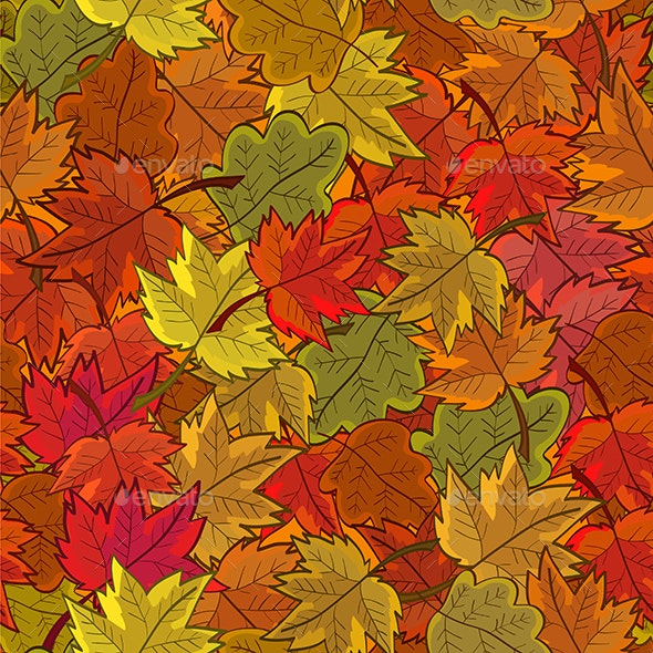 Seamless Pattern with Leaves - Backgrounds Decorative