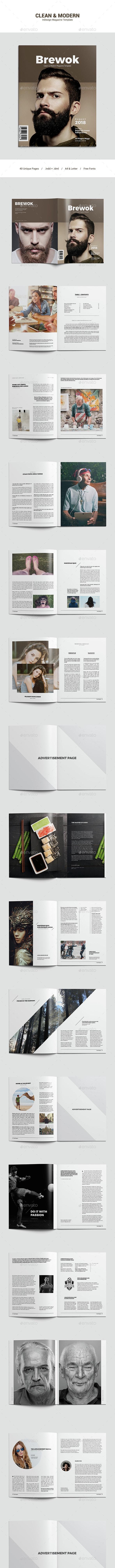 Clean & Modern Magazine Template - Magazines Print Templates