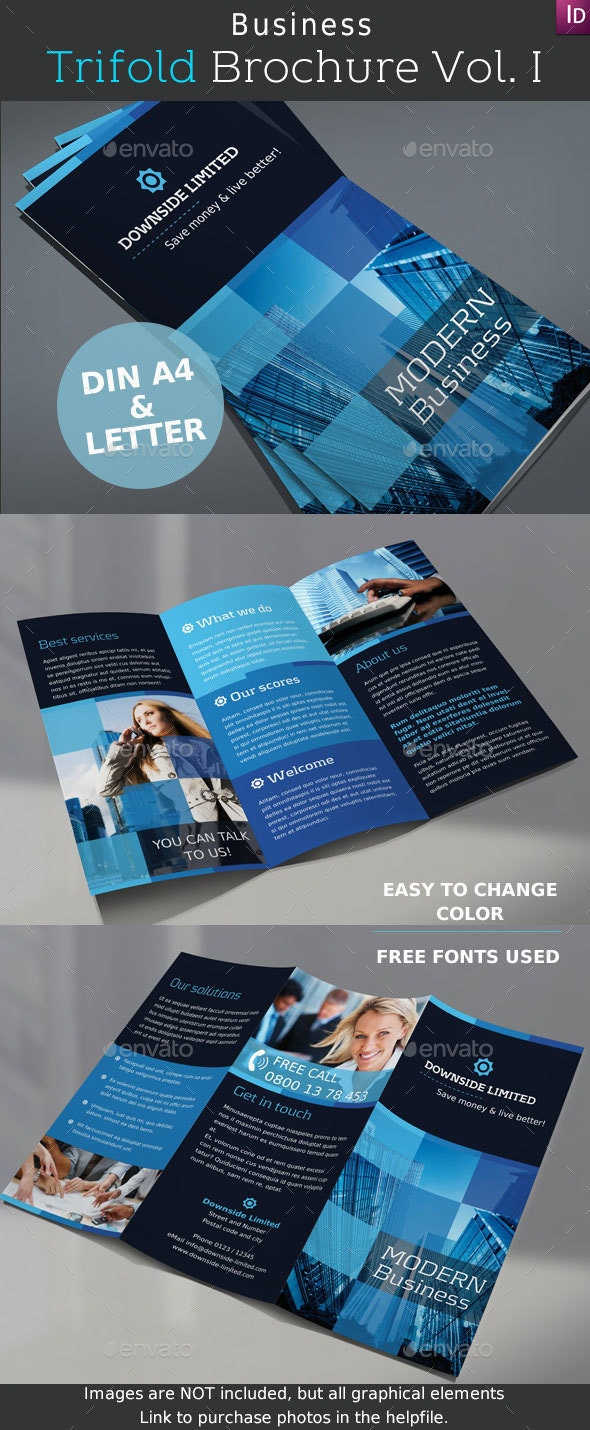 Business Trifold Brochure Vol. I - Corporate Brochures