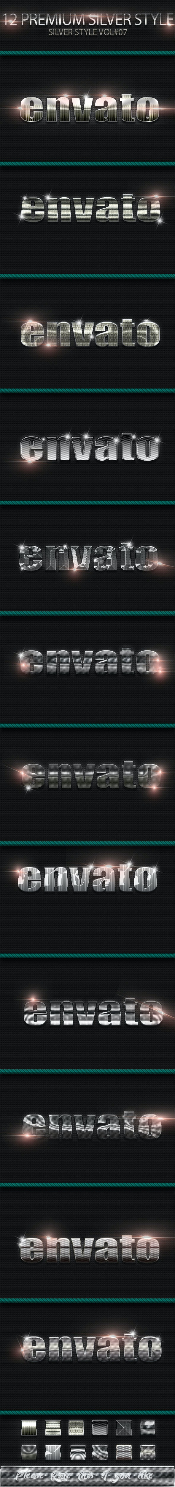 12 Photoshop Text Effect Styles Vol 8 - Text Effects Styles
