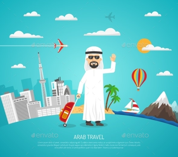 Poster Of Arab Travel - Seasons/Holidays Conceptual