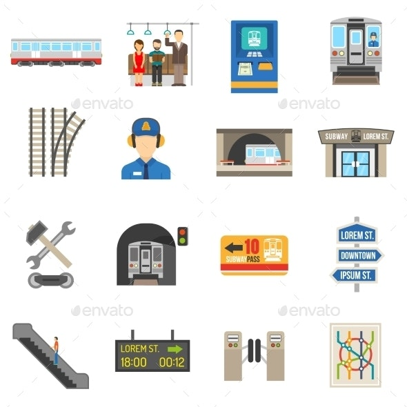 Underground Icons Set - Technology Conceptual