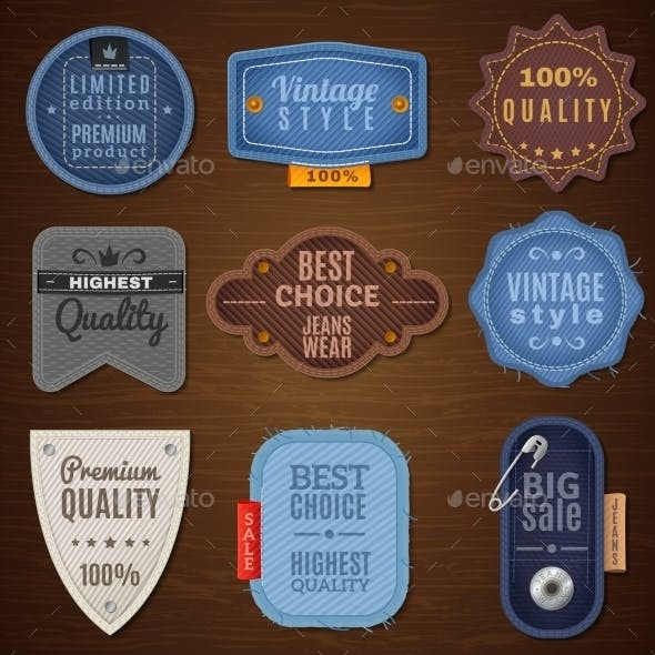 Jeans Label Icons