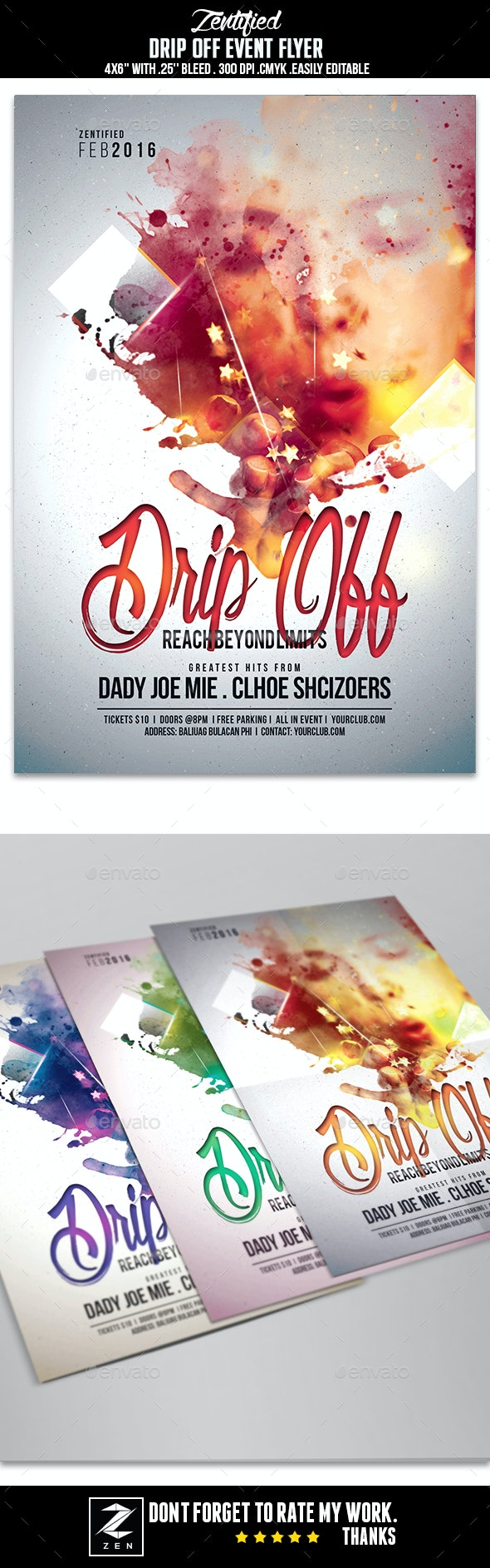 Drip Off Event Flyer - Events Flyers