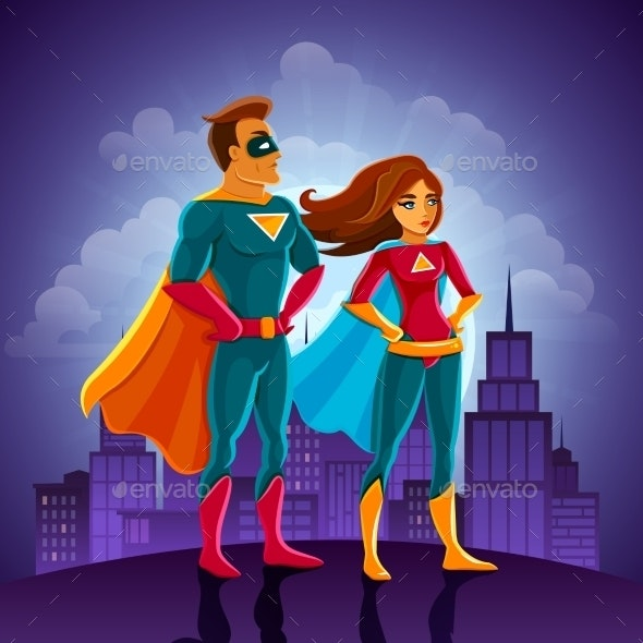 Super Heroes Couple - People Characters
