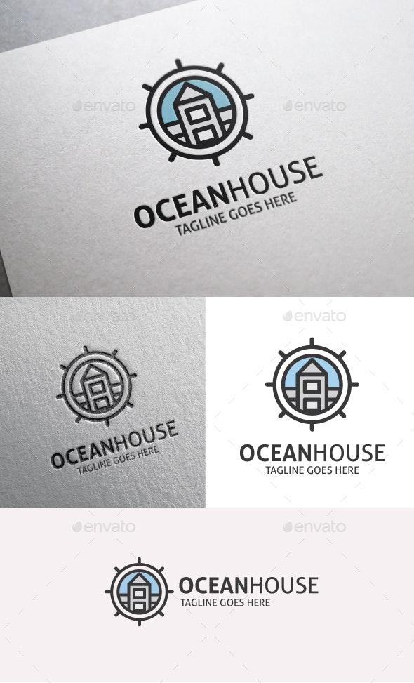 Ocean House - Buildings Logo Templates