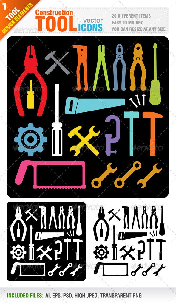 Construction Tools - Man-made Objects Objects