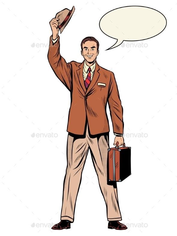 Man Businessman Salesman - Concepts Business