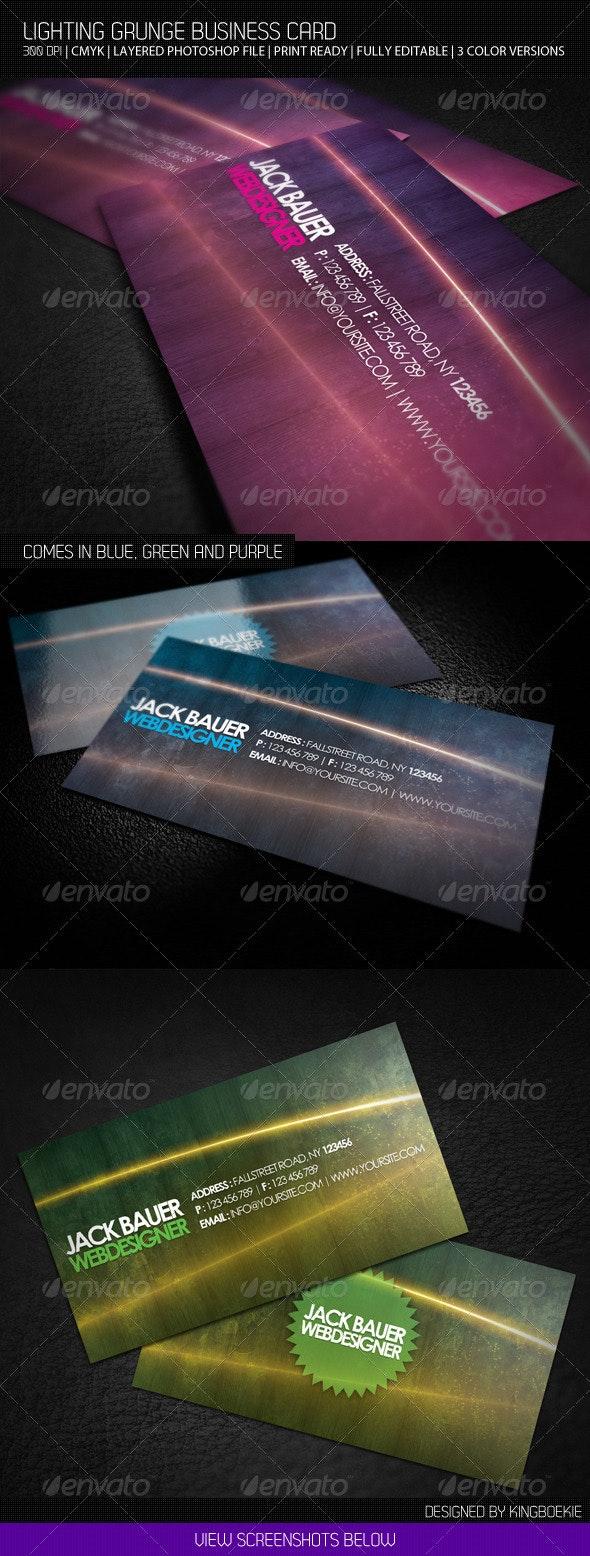 Lighting Grunge Business Card - Creative Business Cards