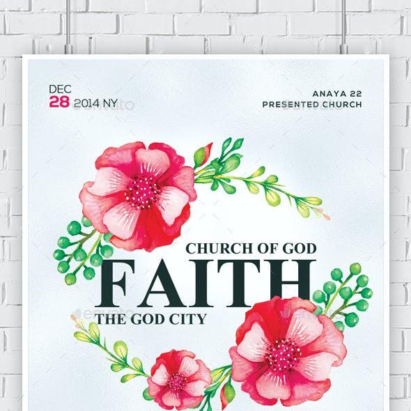 Faith and Prayers Church Flyers Bundle