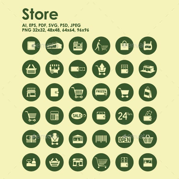 36 Store icons