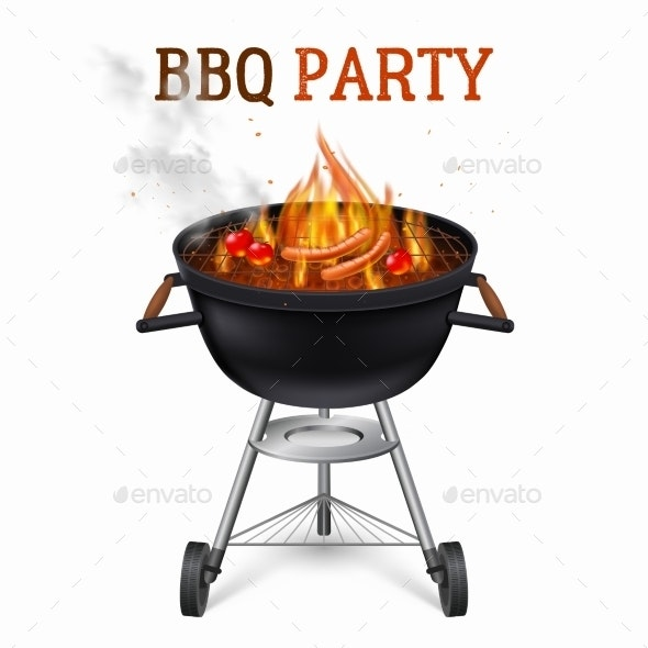 Portable Barbecue Grill Illustration  - Man-made Objects Objects