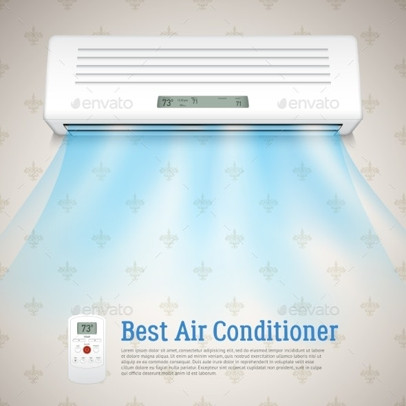 Air Conditioner Illustration - Man-made Objects Objects
