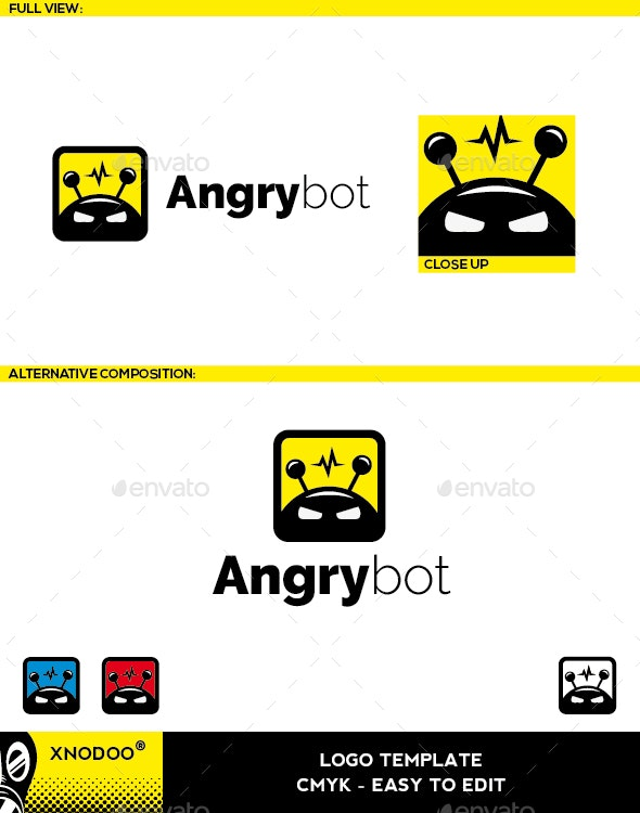 Angrybot Logo - Objects Logo Templates