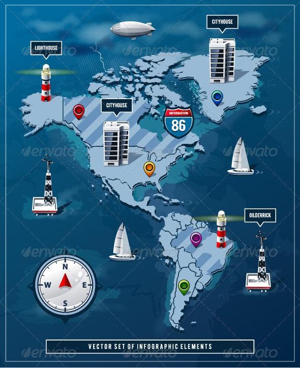 Vector set of infographics elements - Infographics