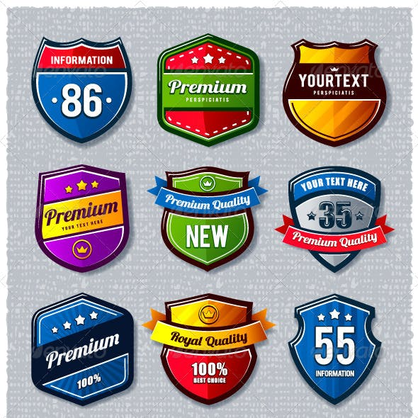 Vector set of retro badges