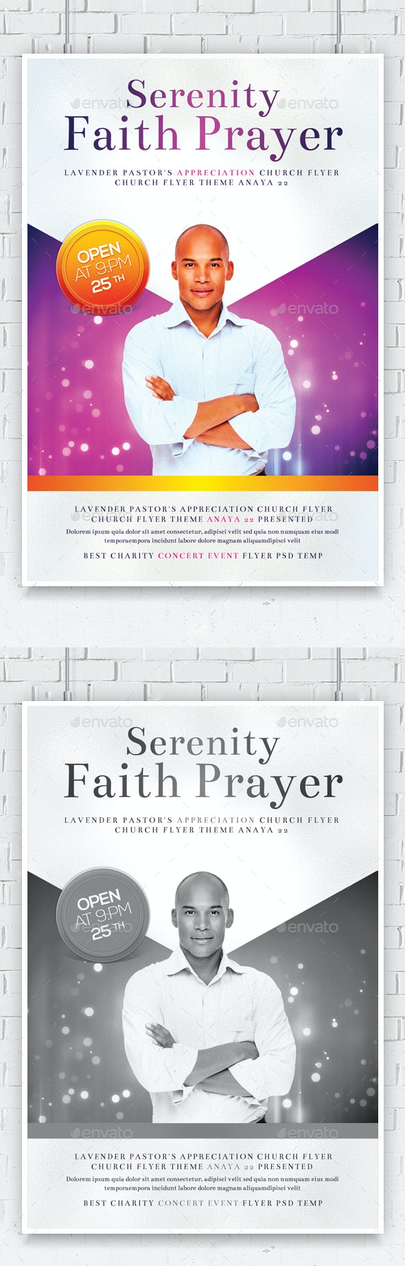 Serenity Prayer Breakfast Church Flyer - Church Flyers