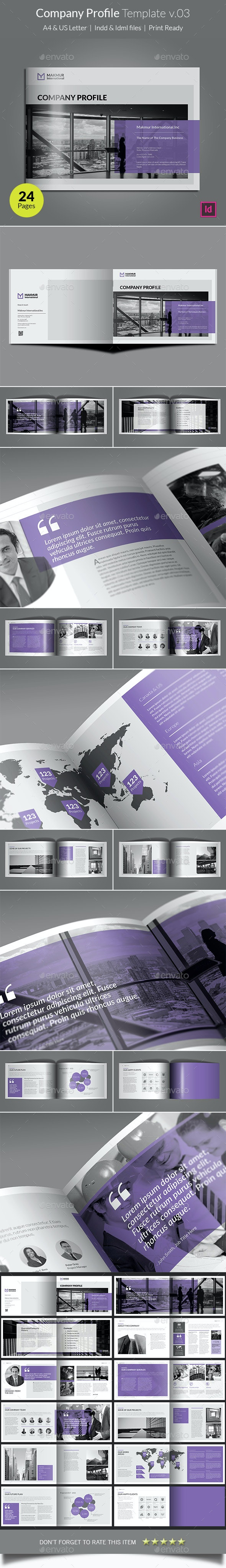 Company Profile Template v03 - Corporate Brochures