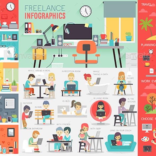 Freelance Infographic Set