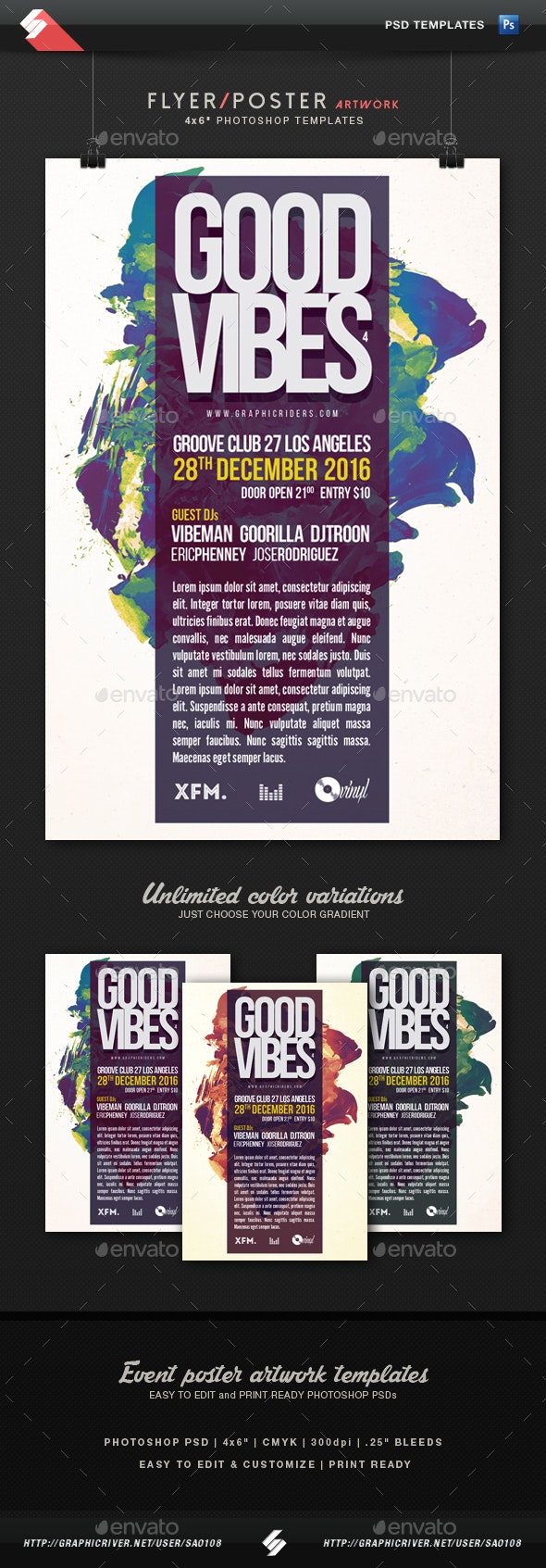 Good Vibes 4 - Party Flyer Template - Clubs & Parties Events