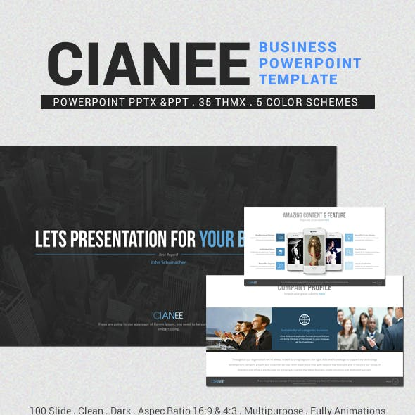 Cianee Business Powerpoint Template