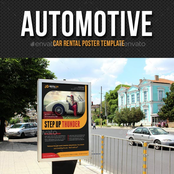 Automotive Car Rental Poster Template V04