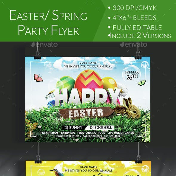 Easter/ Spring Party Flyer