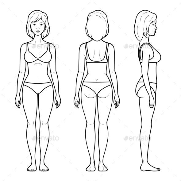 Illustration of Female Figure - People Characters