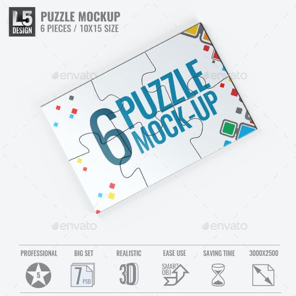 Puzzle 6 Pieces Mock-Up