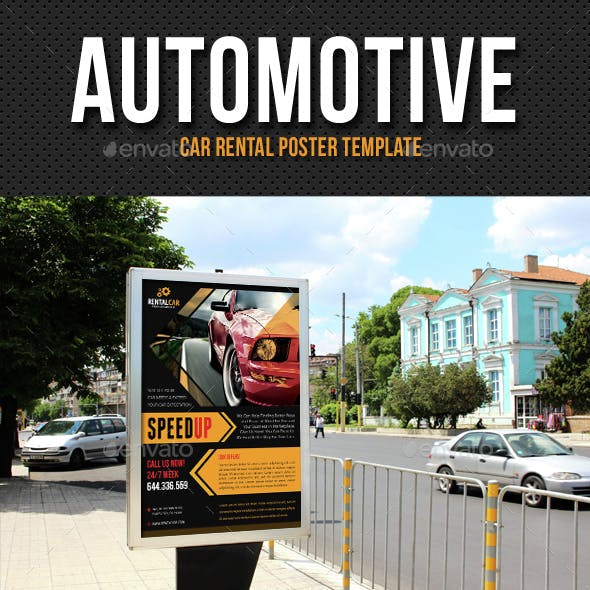 Automotive Car Rental Poster Template V05