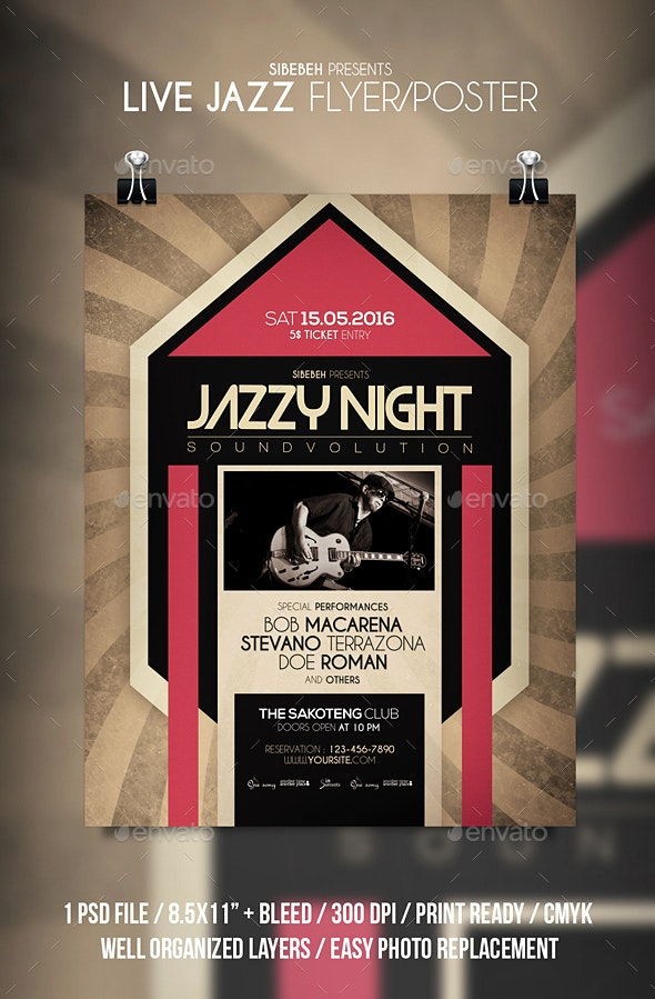 Live Jazz Flyer / Poster - Events Flyers