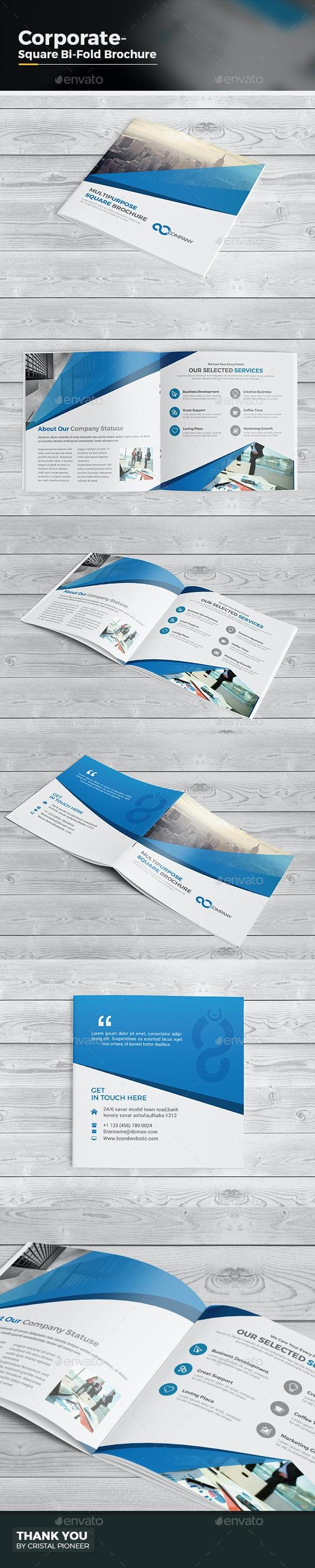 Square Bi Fold Brochure- Multipurpose - Corporate Brochures