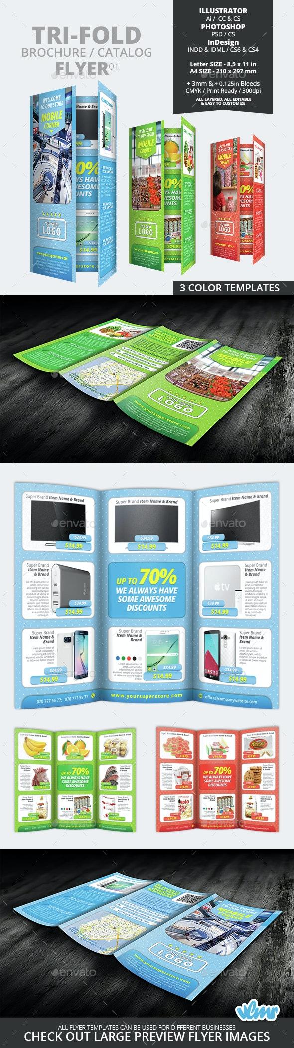 Tri Fold Brochure Catalog Flyer 01 - Catalogs Brochures