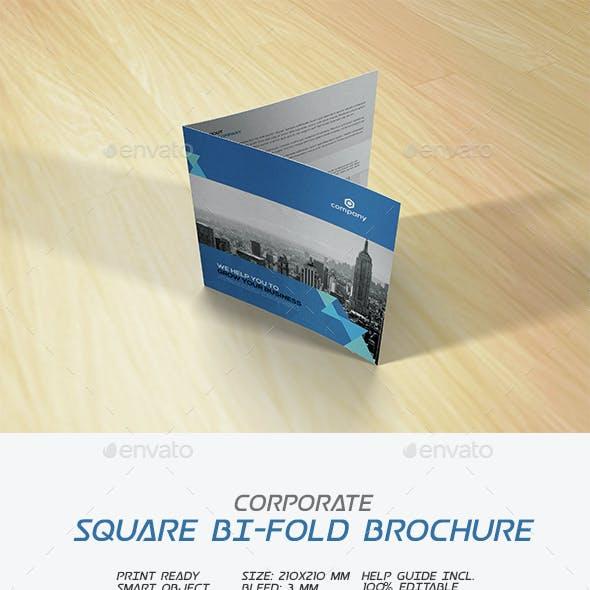 Square Corporate Bi-fold Brochure