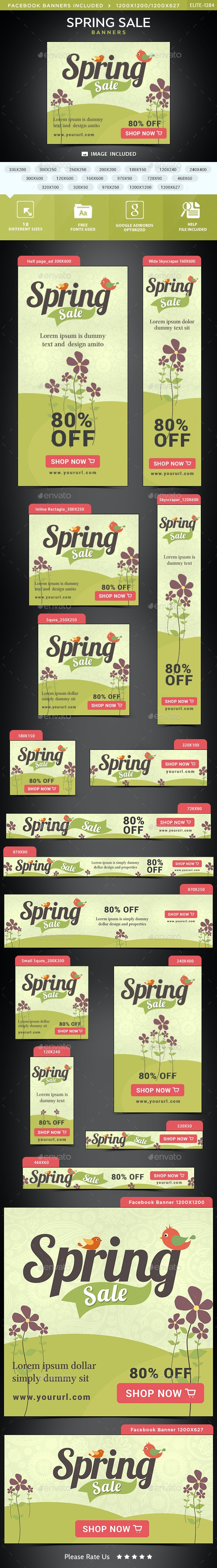 Spring Sale Banners - Banners & Ads Web Elements