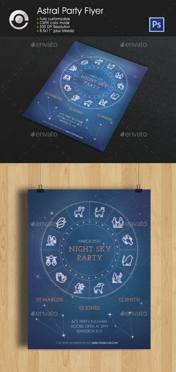 Astral Party Flyer - Clubs & Parties Events
