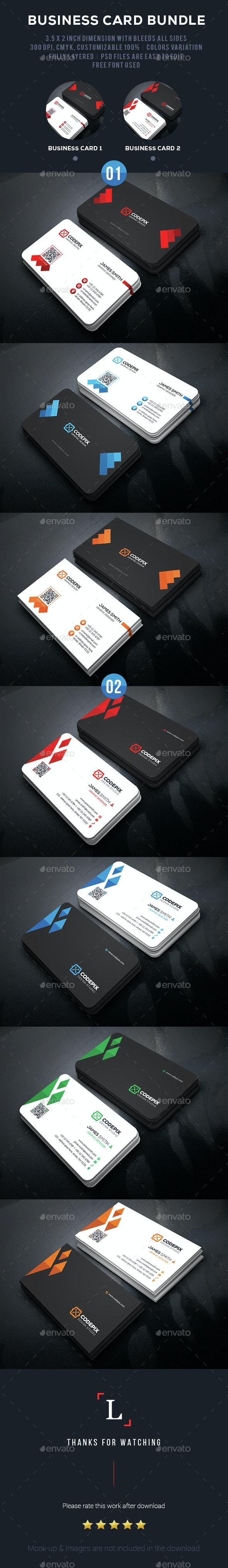 Graphic Business Card Bundle - Business Cards Print Templates