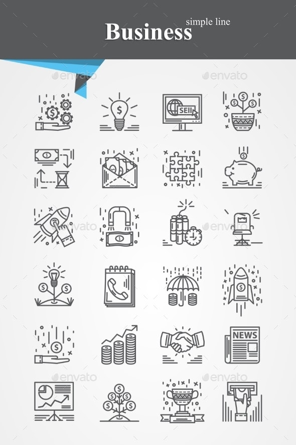 Business Icons Set - Concepts Business