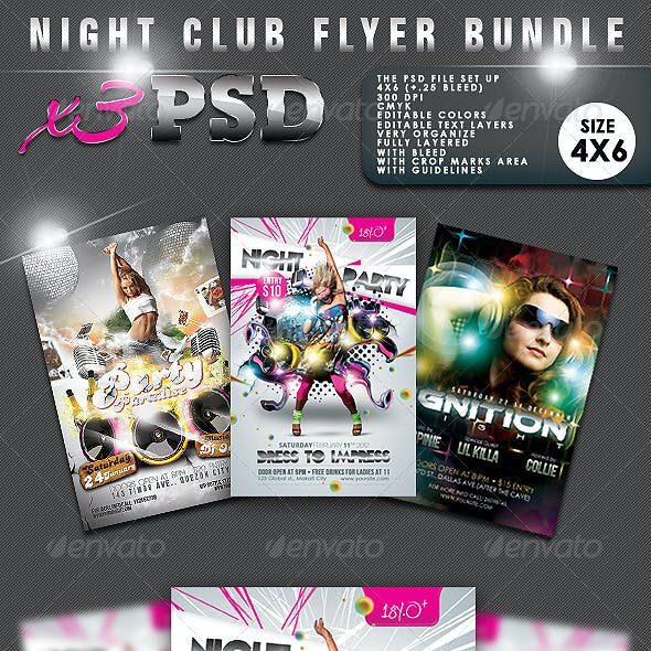 Night Club Flyer Bundle #02
