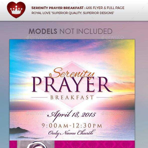 Serenity Prayer Breakfast Church Flyer