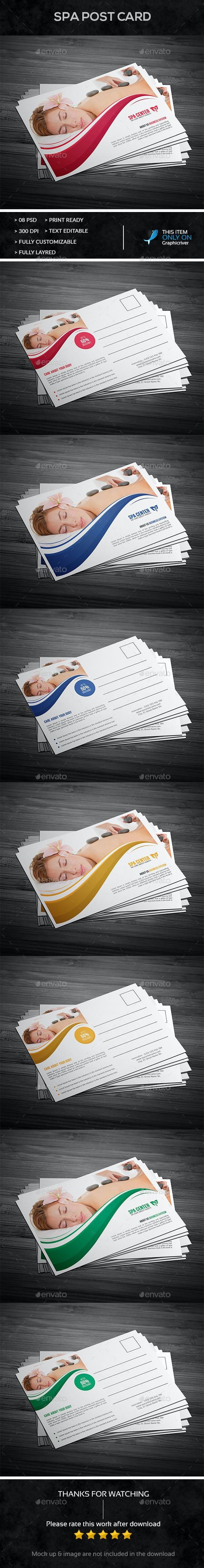 Spa Post Card Design  - Cards & Invites Print Templates