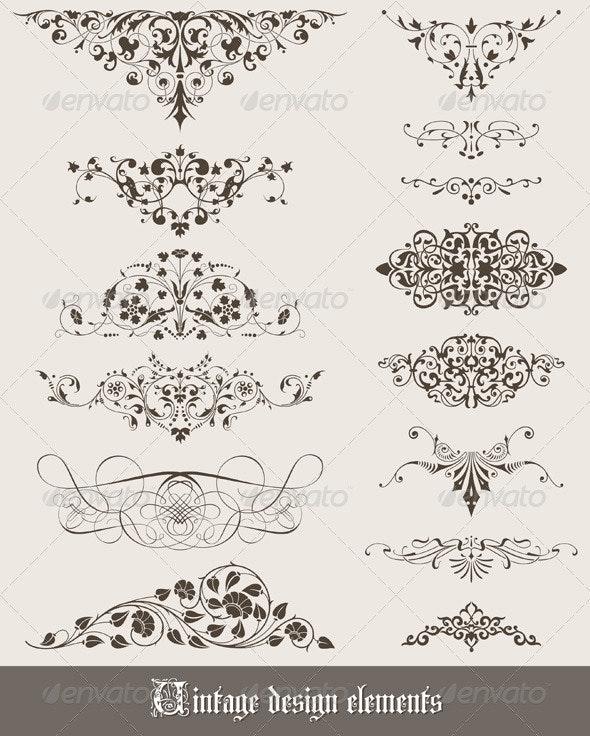 Vintage Design Elements - Decorative Symbols Decorative