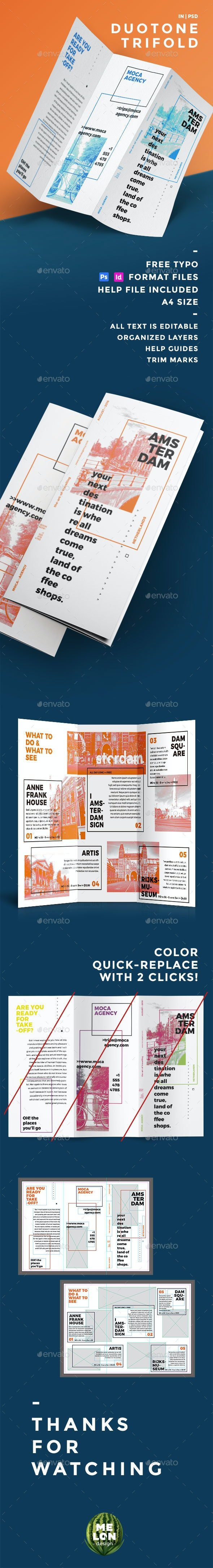 Duotone Trifold - Informational Brochures