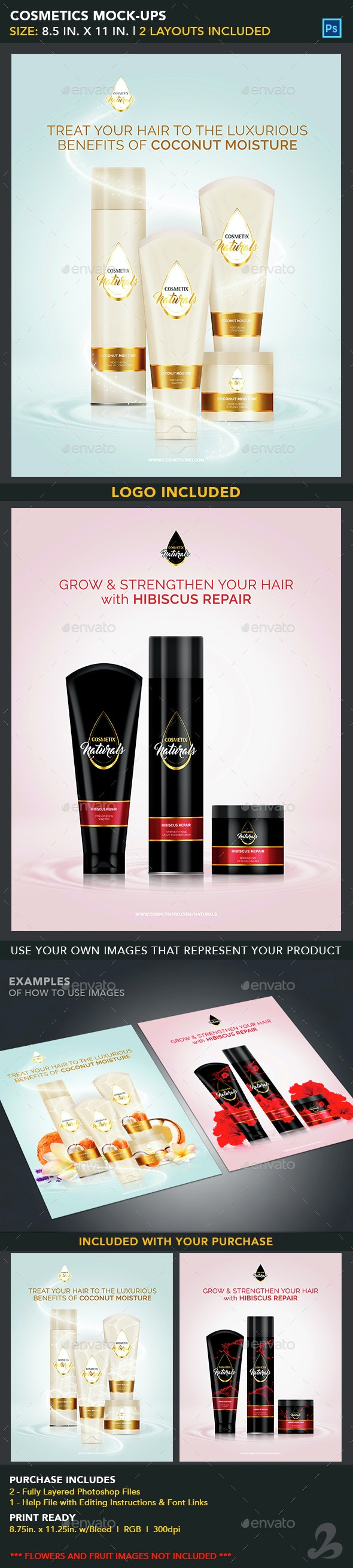 Cosmetics Mock-Ups - Product Mock-Ups Graphics