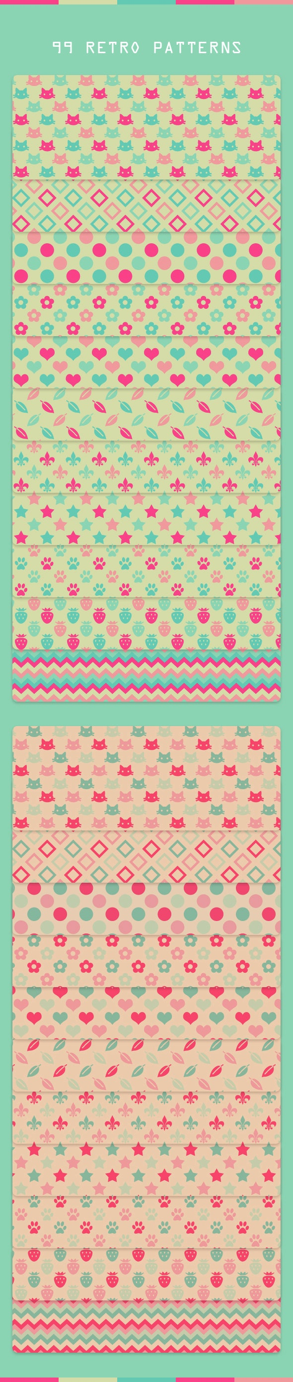 Retro Patterns - Miscellaneous Textures / Fills / Patterns