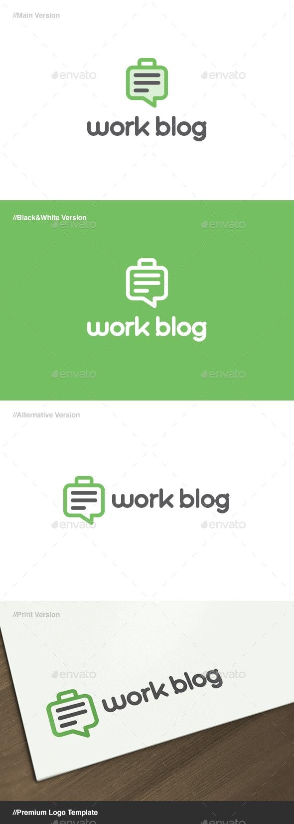 Work Blog Logo - Objects Logo Templates
